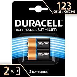 DURACELL 2 Piles Lithium de Haute Puissance 123