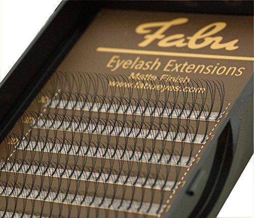 Fabu - extension ciglia volume russo 3d a ciuffetti, a forma di d, 0,10 mm di spessore, 8mm | 9mm | 10mm | 11mm | 12mm | 13mm | 14mm | 15mm