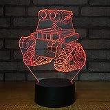 BFMBCHDJ Karikatur-Traktor-kreative heiße verkaufende geführte Dekoration der Nachtlicht-3d bunte Fernsteuerungsnote führte Lampe Usb-3d