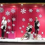 heekpek 81 Schneeflocke Aufkleber in 3 pc Weihnachten Winter Festival Dekoration PVC Fenster Aufkleber Tür Aufkleber für Haus und Geschäfte