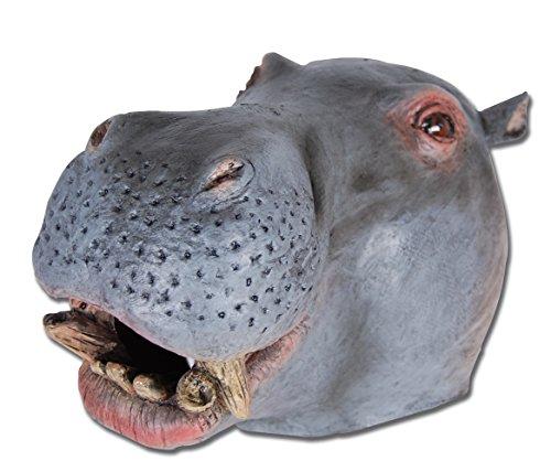 4Hippo Overhead Maske, eine Größe (Halloween Kostüm Hippo)