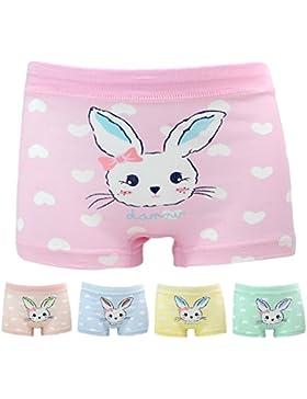 Mädchen Hase Unterhosen Baumwolle Unterwäsche Set für Kinder Rosa