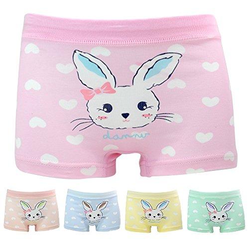 Mädchen Hase Unterhosen Baumwolle Unterwäsche Set für Kinder Rosa 1-2 Jahre (Höschen Set Mädchen)