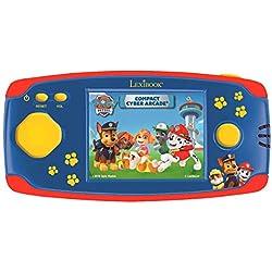 Lexibook- Paw Patrol La Pat'Patrouille Chase Console Portable Compact Cyber Arcade, 150 Jeux, écran LCD, à Piles, Rouge/Bleu, JL2365PA