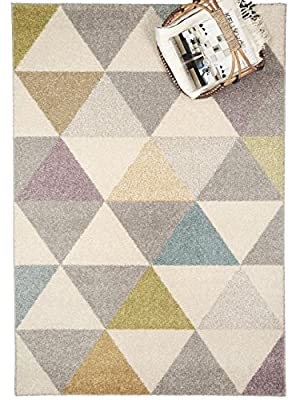 benuta Pastel Geomet Modern Rug - Quality label GuT - 100% Polypropylene - Chevron - Machine woven - Living room