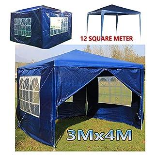 AutoFu 3Mx4M Party BBQ Tent Gazebo Waterproof for Garend Blue