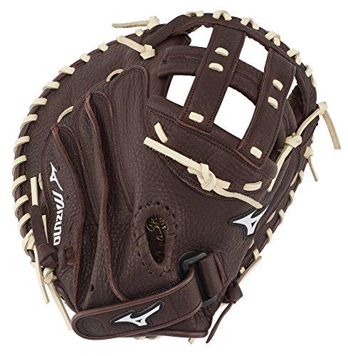Mizuno Franchise Fastpitch Softball Handschuh Serie, Damen, GXS90F3, Coffee/Silver Catchers Mitt, 34