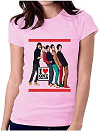 LetsFlaunt I love one direction pink girls tee Dry-Fit Nw