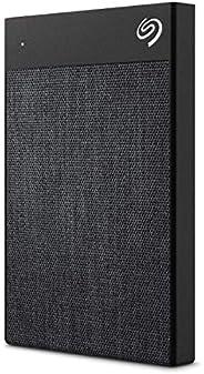 Seagate 1 TB Backup Plus Ultra Touch USB-C + USB 3.0 Portable External Hard Drive (Black)