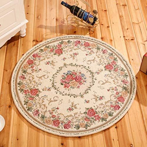 Teppiche Landhausstil Runde Bereich Wohnzimmer couchtisch Schlafzimmer Studie Computer Stuhl Weichen Matten Bodenmatte Wohnkultur (größe : 120cm) (8 Ft Runde Bereich Teppich)