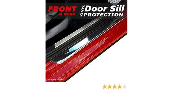 Easy Install Kit Included carmats4u Matt Black Vinyl Door Sill Protectors 2 Piece