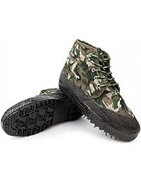 Z&HX Herbst- und Winterdamen Martin-Stiefel britisch plus Samt hoch, um Retro-rutschfeste weibliche Stiefel zu helfen, camouflage, 41