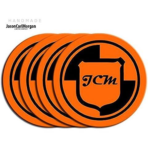 Volkswagen Polo arancione e nero in lega Centro di rotella di Cap spille (CLR 90mm) - Centro Di Rotella Cap