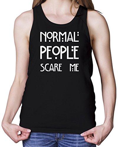 Normal People Scare Me - Débardeur Femme - Noir - S