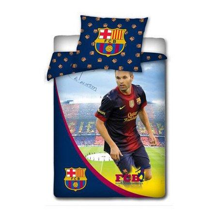 FC Barcelona Bettwäsche Set 160x200 cm INIESTA