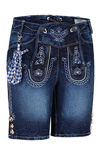 Lekra Jungen Kinder Trachtenhose Jeans kurz blau 140076