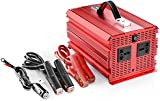 BESTEK 2 AC Outlets 2000W/4600W Power Inverter Car DC 12V to AC 230V AC Inverter Power Automotive Backup Power Supply for Flood Light, Blender, Vacuum, Refrigerator, Microwave Oven, Chainsaw, Water Pump and More MRI20013