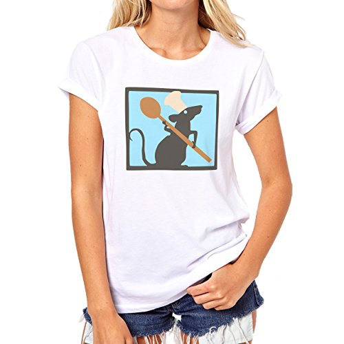 A Ratatouille Cook Rat Damen T-Shirt Weiß