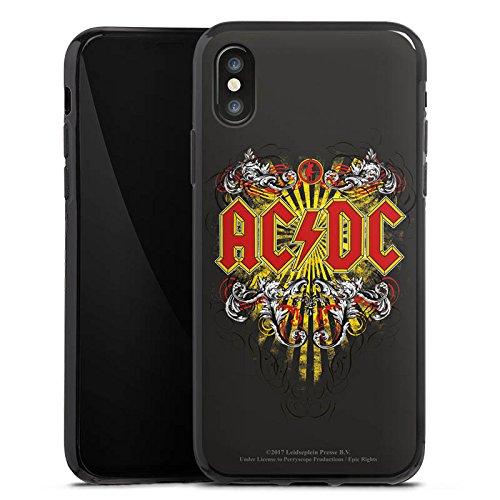 Apple iPhone 7 Plus Silikon Hülle Case Schutzhülle ACDC Danger Offizielles Lizenzprodukt Silikon Case schwarz