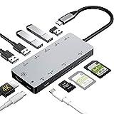 Rozeda USB C Hub 11 in 1 Dex Station mit HDMI 4K,USB 3.0, Aufladung,Unterstützt SD/SDHC/SDXC/Micro SD/Kartenleser OTG Type C Dock Kompatibel MacBook Pro 2017/2018,Samsung S8/S9