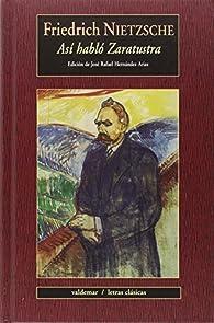 Así habló Zaratustra par Friedrich Nietzsche