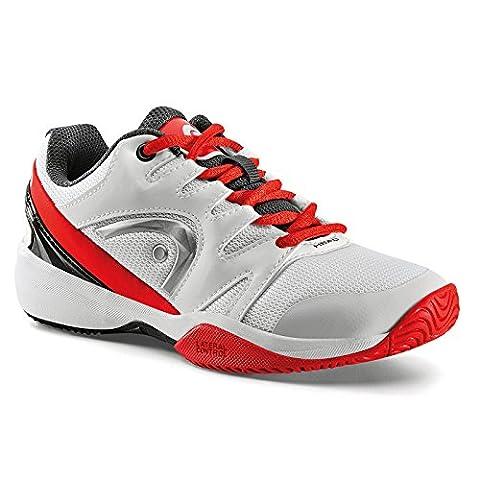 Head Nzzzo Junior, Chaussures de Tennis Mixte Enfant, Blanc (White/Red), 36.5 EU