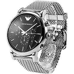 Emporio Armani Herren-Armbanduhr XL Chronograph Quarz Edelstahl AR1808