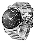 Emporio Armani Herren-Armbanduhr Chronograph Quarz Edelstahl AR1808