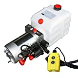 Hydraulikaggregat, Hydraulikpumpe 12 V 180 bar 2000 Watt mit 4 Liter Tank und Kabelfernbedienung