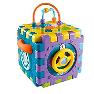 Baybee Baby Activity Cube 6-in-1 Educational Activity Toy with Shapes Sorter Puzzle, Musical Key, Piano, Clock for Kids, Baby Activity Play Centre Gift for 1-3 Year Old