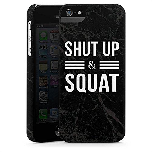 Apple iPhone X Silikon Hülle Case Schutzhülle Squat Fitness Statements Premium Case StandUp