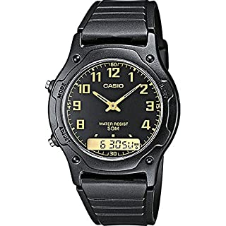 Casio Collection AW-49H-1BVEF Men's Watch, Black