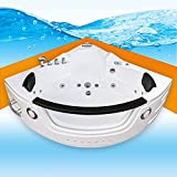 Whirlpool Pool Badewanne Eckwanne Wanne A1505N-ALL 140x140cm Reinigungsfunktion, Selfclean:ohne +0.-EUR, Sonderfunktion1:mit Radio+Farblicht +50.-EUR