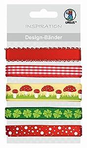 Ursus 74510021 - Diseño Inspiración - Bandas Lucky 1, 5 diseños Diferentes, Cada una de 90 cm de Largo