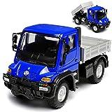 alles-meine.de GmbH Mercedes-Benz Unimog U400 mit Pritsche Blau LKW Truck ca 1/43 1/36-1/46 Welly Modell Auto