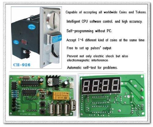 [Sintron] moneta di accettore multi selettore di CH-926 USB e scheda di controllo timer per distributore automatico, accettare 6 tipi di monete