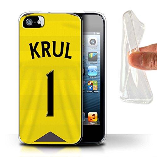 Offiziell Newcastle United FC Hülle / Gel TPU Case für Apple iPhone 5/5S / Pack 29pcs Muster / NUFC Trikot Home 15/16 Kollektion Krul