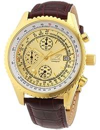 Ingraham Herren-Armbanduhr XL Nantes Chronograph Quarz Leder IG NANT.1.600201