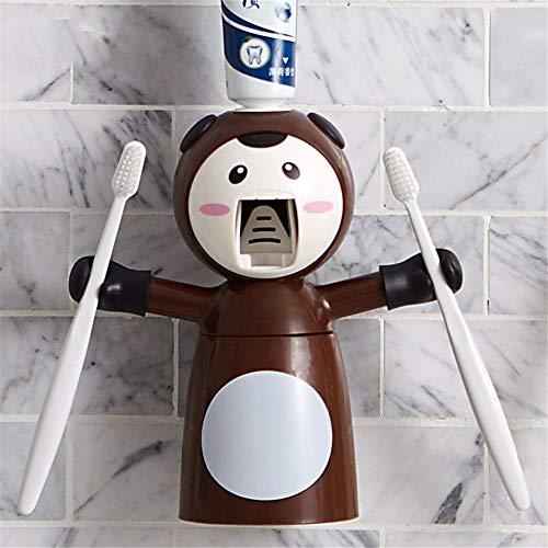 Fauler Anzug der automatischen Wand-Karikatur der Extrusionszahnpasta kreative, braune Zahnbürste