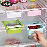 Multi Purpose Fridge Storage Racks / Storage Sliding Drawer / Shelf Freezer Storage For Easily Maintaining Your Extra Meals / Sweets / Chocolates / Double Up Your Space In Refrigerator Organizer By - Palak (Pack Of 2)