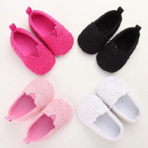 BZLine® Kinder Mädchen weichen Sohle Krippe Neugeborenes Schuhe Hot Pink