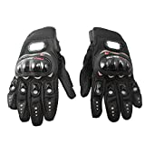 Motorrad Handschuhe - PRO-BIKER 1 Paar Anti-Rutsch 3D-Motorrad Sport Racing Reiten Radfahren Handschuhe (L Schwarz)