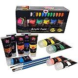Studio Acrylfarbe colores Set profesional de pintura Kit de pantalla, la madera, arcilla, sustancia que Nail Art, cerámicas & artesanía. Los estudiantes & profesionales Crafts 4 ALL(12X75 ML grandes viales.