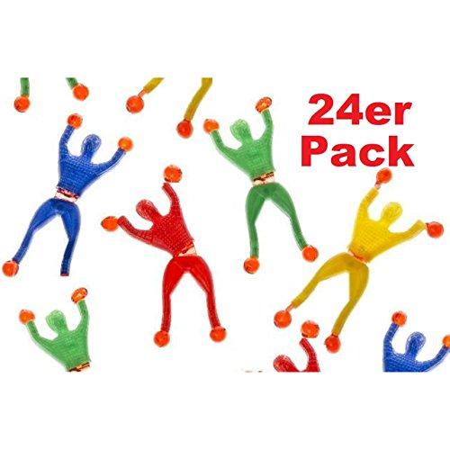 Lg-Imports 24er Set Fensterkletterer Ninja 4 Farben ca. 9cm Mitgebsel Tombola Geburtstag Kindergeburtstag