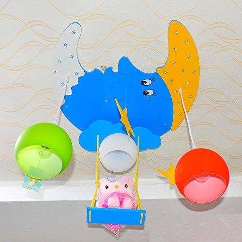 Doppel-Saug-Hängelampe Kinderzimmer Kronleuchter Kinderwagen Cartoon Jungen und Mädchen mit Schlafzimmer Deckenbeleuchtung - 3