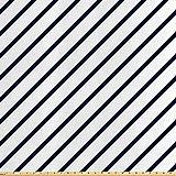 ABAKUHAUS Geometrisch Stoff als Meterware, Abgewinkeltes
