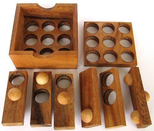Golf Puzzle - 3D Puzzle - Denkspiel - Knobelspiel - Geduldspiel - Logikspiel aus Holz - 3