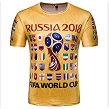 Ndier Camiseta con Camisetas de la Copa del Mundo de Banderas Nacionales para Fanáticos del Fútbol