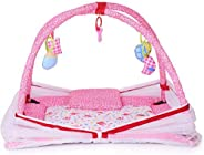 DearJoy Baby Bedding Set/Baby Bedding Set with Mosquito Net and Baby Play Gym with Mosquito Net (Pink Bunny Pr
