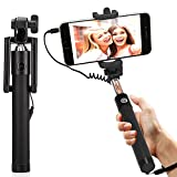 #6: DMG Selfie Stick Wired + Foldable Mini Monopod with Rubber grip for Android Smartphones and iPhones (Multi-colour)